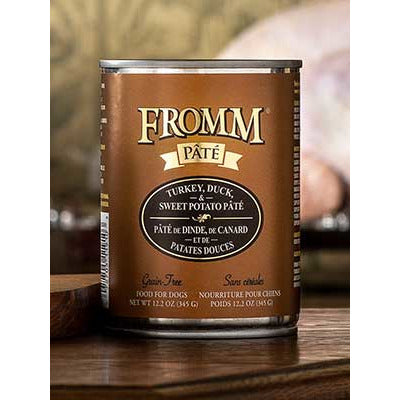 FROMM Can Dog Pate Grain Free Turkey Duck & Sweet Potato 12oz 12ct