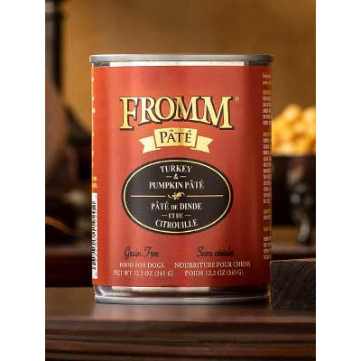FROMM Can Dog Pate Grain Free Turkey & Pumpkin 12oz 12ct