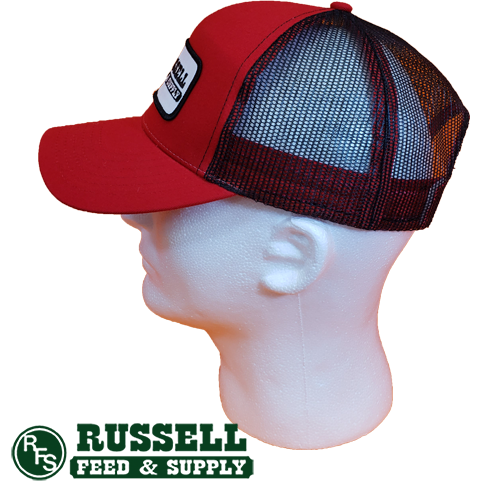 Russell Feed Purina Patch Red & Black Snap Back Trucker Hat
