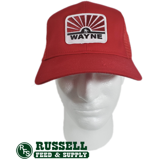 Wayne Red Trucker Hat