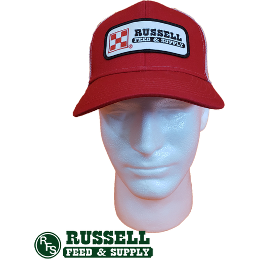 Russell Feed Purina Patch Red & White Snap Back Trucker Hat