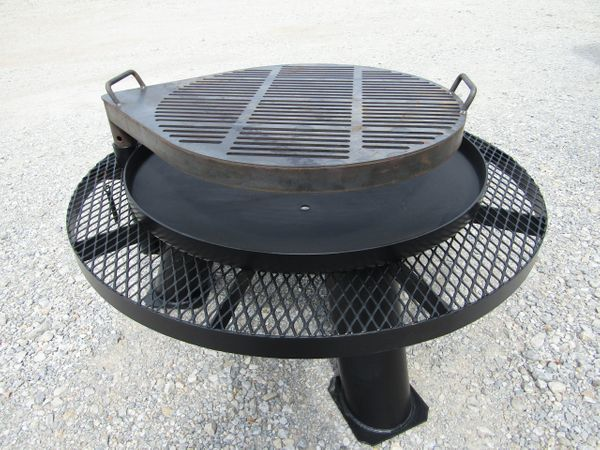 HB Standard Dish Fire Pit with Grill & Shelf