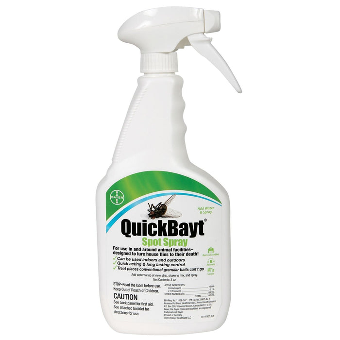 QuickBayt Spot Spray Fly 3oz Concentrate with 24oz Bottle