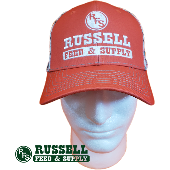 Russell Feed Salmon & Aztec Mesh Snap Back Trucker Hat