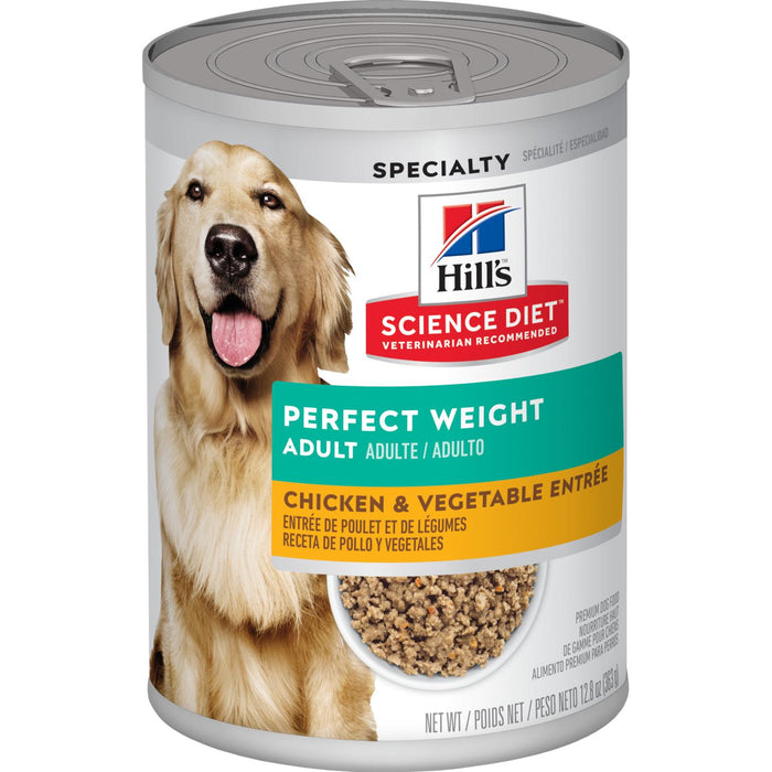 Hills Science Diet Can Dog Perfect Weight Chicken & Vegetable 12.8oz 12ct