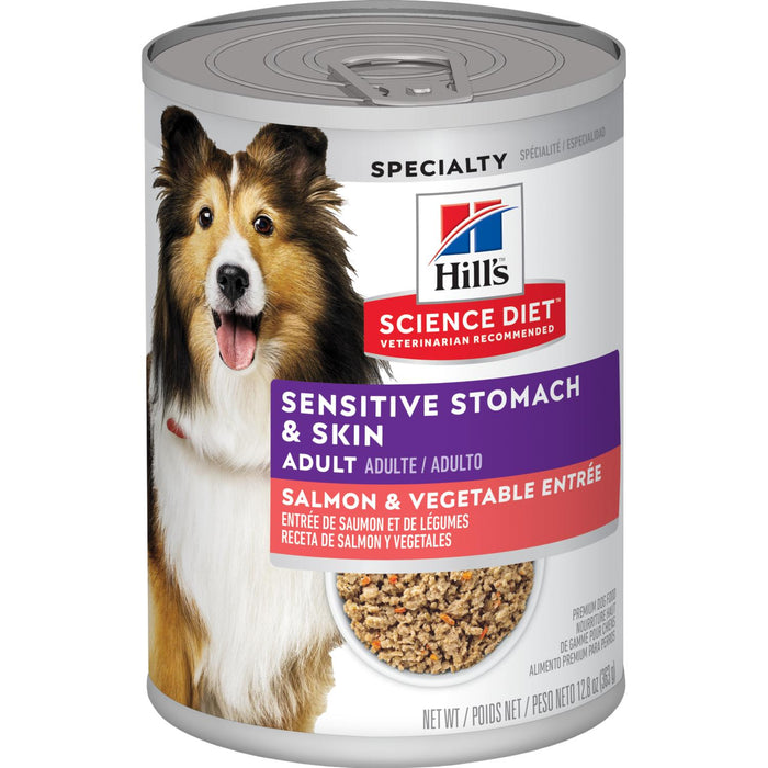 Hills Science Diet Can Dog Salmon Sensitive Skin 12.8oz 12ct
