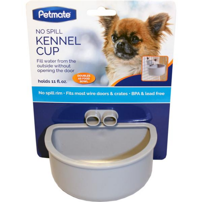 Petmate Kennel Bowl No Spill 11oz