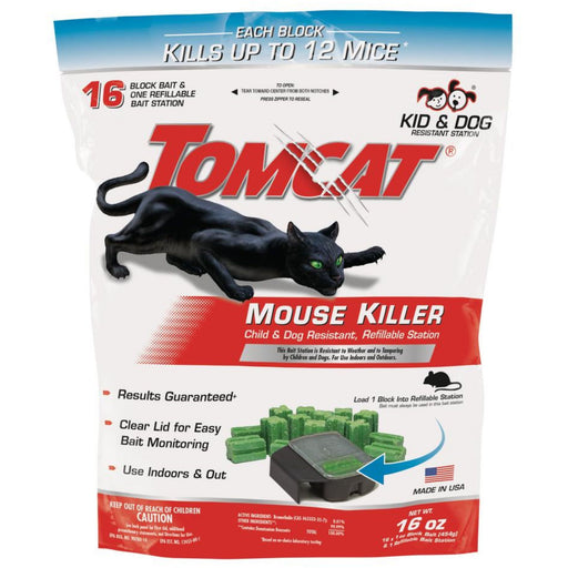 Tomcat Mouse Killer Bait Station w/Refills 16oz