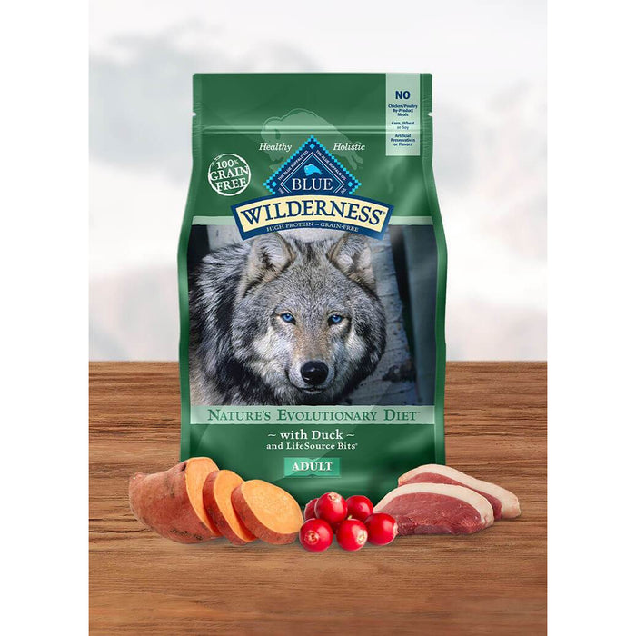 Blue Buffalo Wilderness Dog Duck Grain Free 24lb