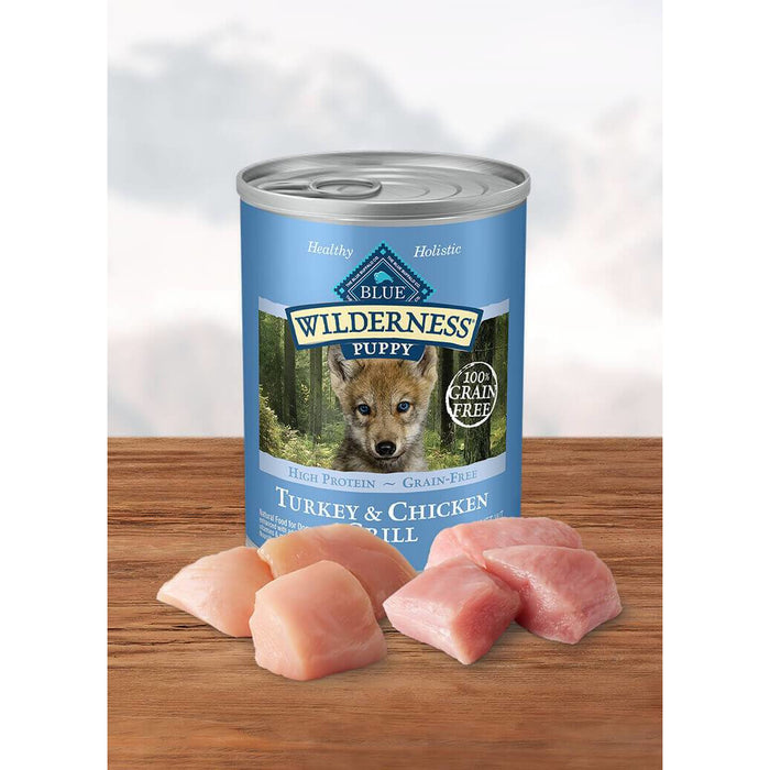 Blue Buffalo Can Wilderness Puppy Turkey & Chicken 12.5oz 12ct
