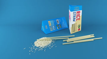 Edible straws: rice-based straws are made in a company
