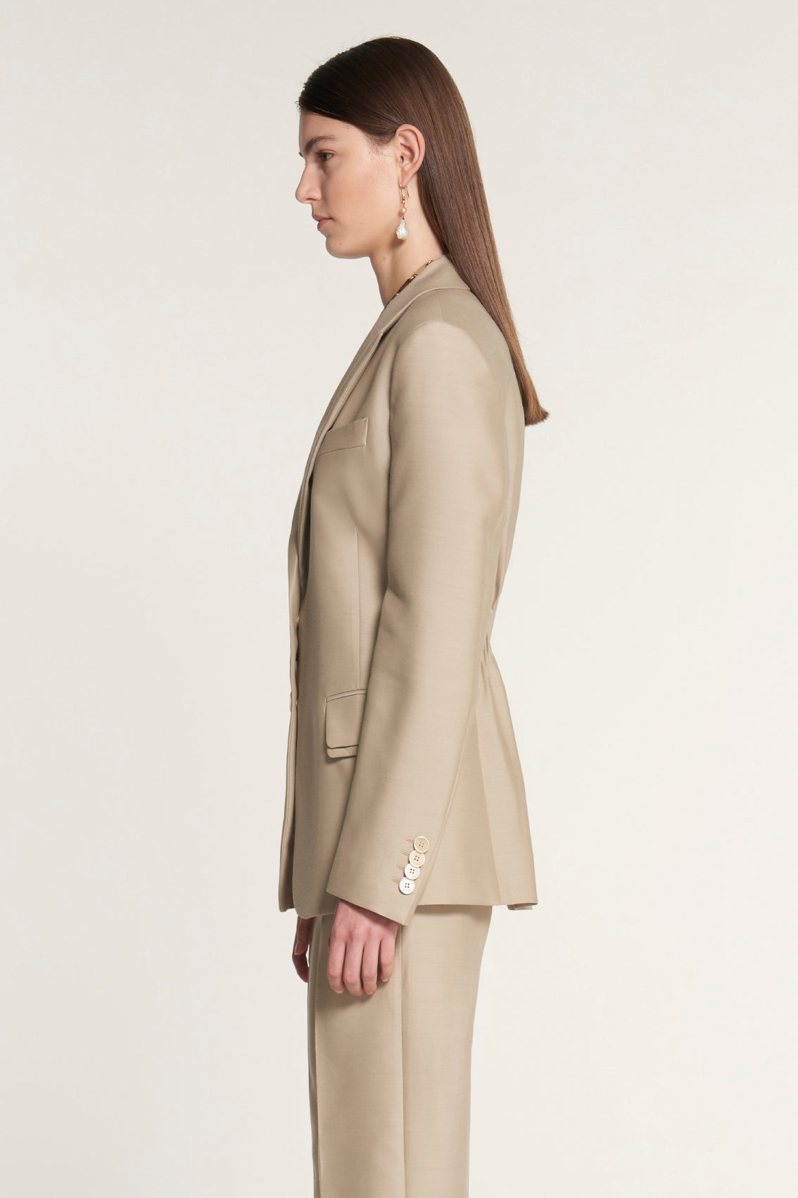 Double Flap Tailored Jacket