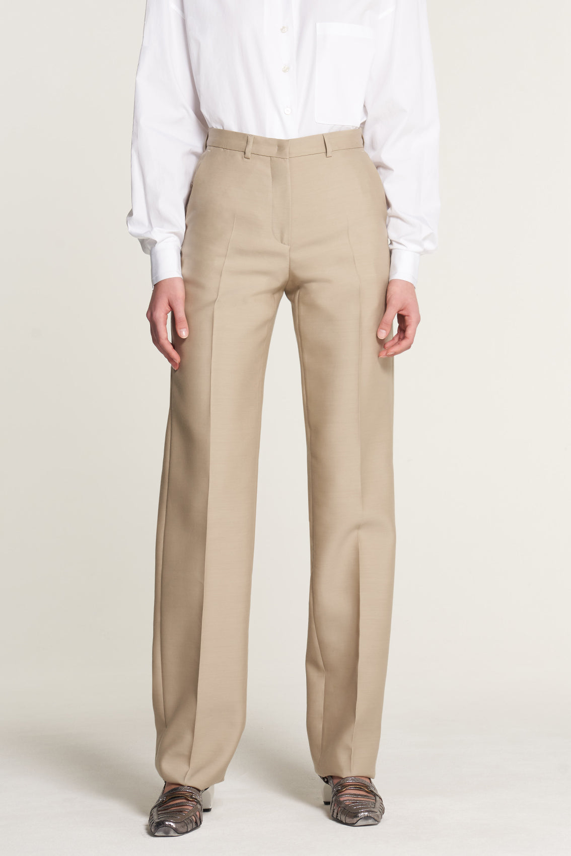 Camel High Waisted Trouser