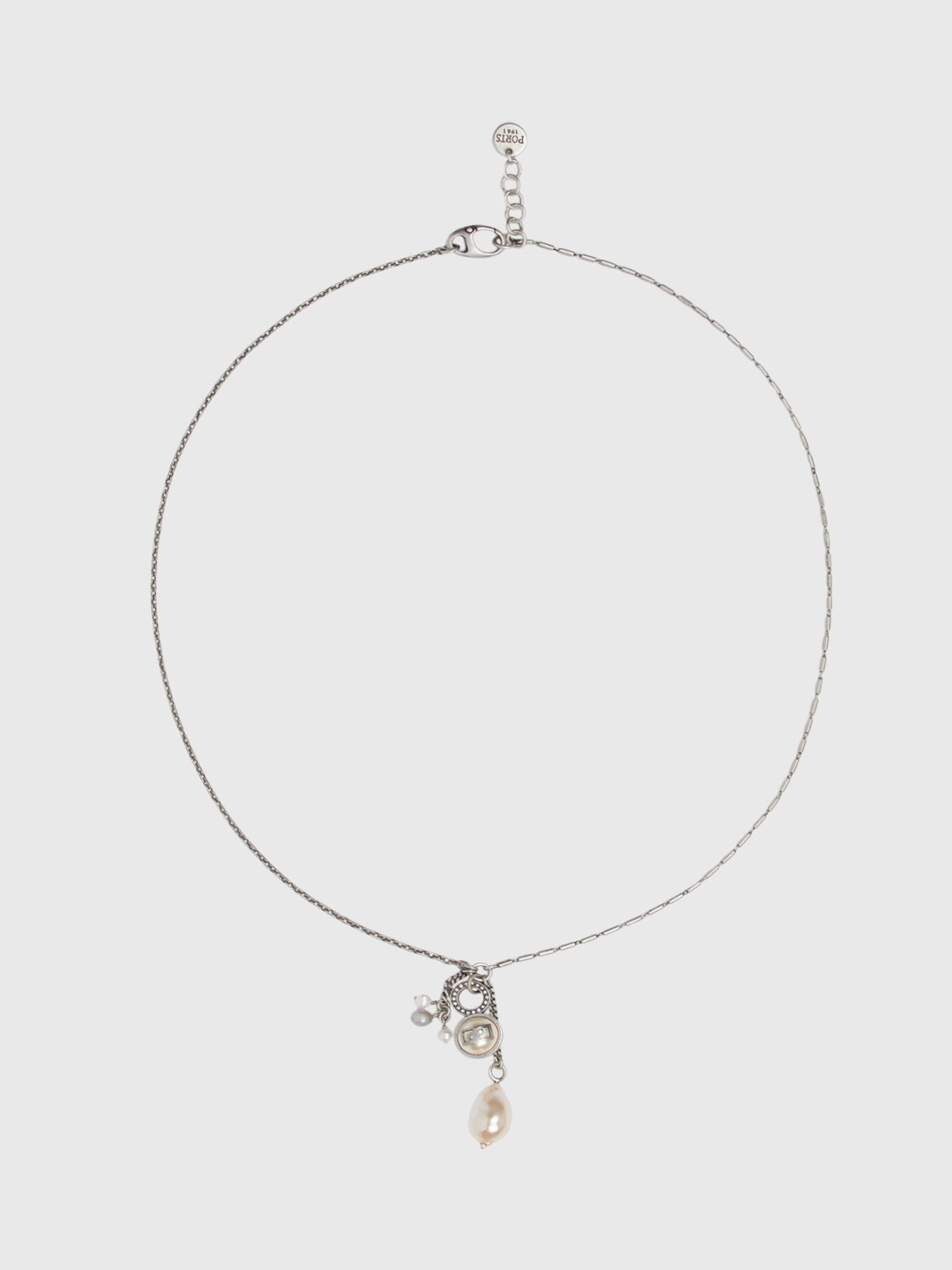 Silver Cluster Lariat Necklace