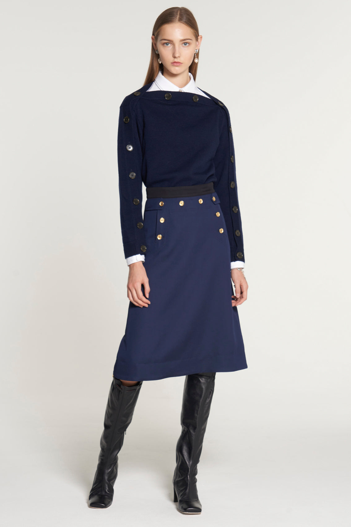 Navy Sailor Skirt