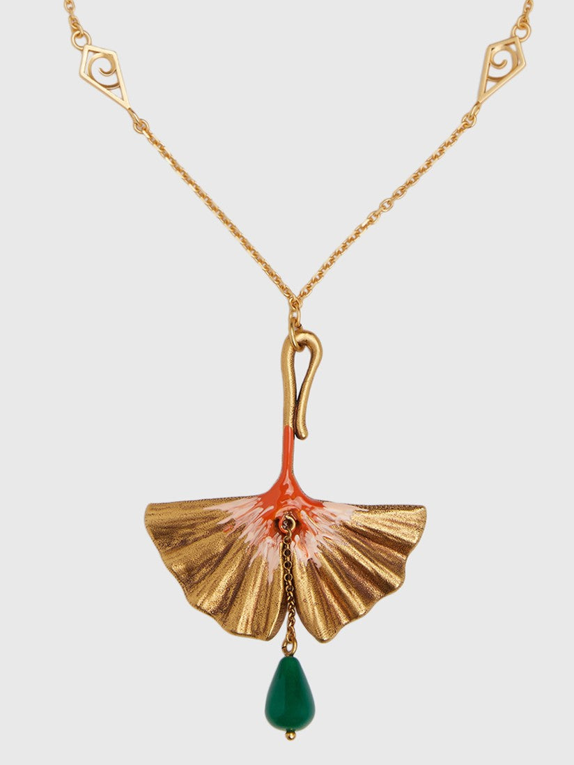 Gingko Pendant Necklace