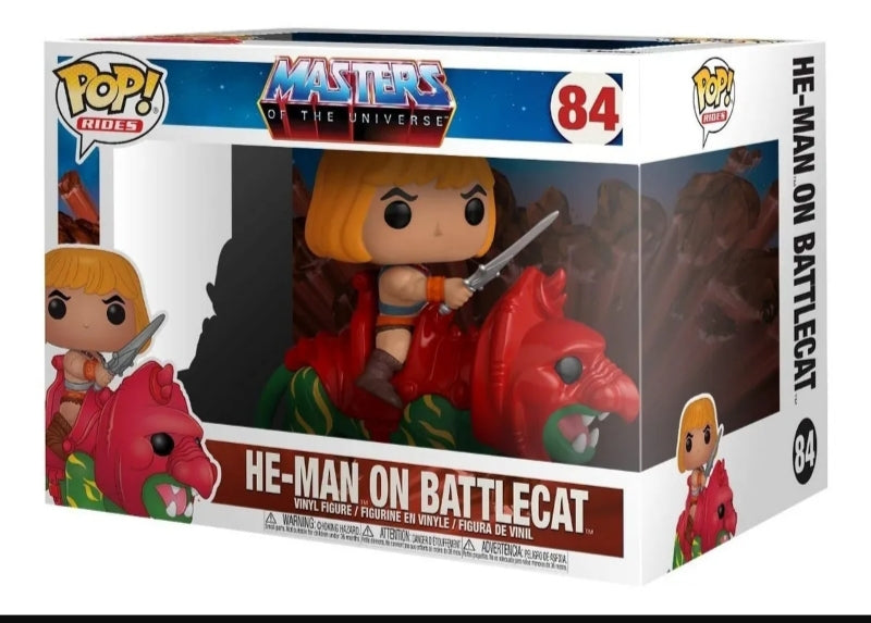 Funko pop rides-MOTU He-man on Battlecat #84