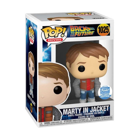 Funko pop Back to the Future/ Marty in Jacket #1025 Exclusivo Funko Shop