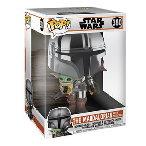 Funko pop Star Wars The Mandalorian con child #380 cromado  10 pulgadas
