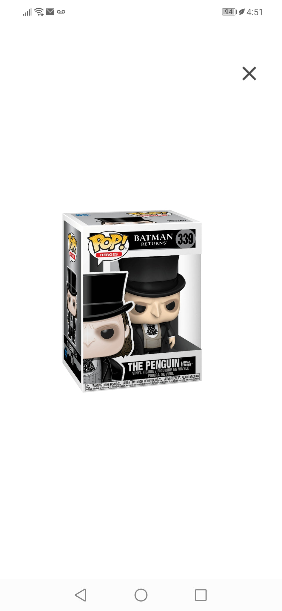 Funko pop Heroes-Batman the penguin #339