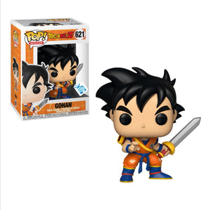 Funko pop Dragon Ball Gohan con espada #621 Exclusivo Game Stop