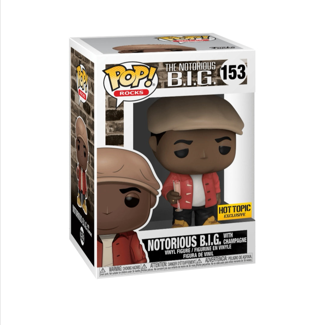 Funko pop Rocks Notorious Big con copa #153 Exclusivo Hot Topic