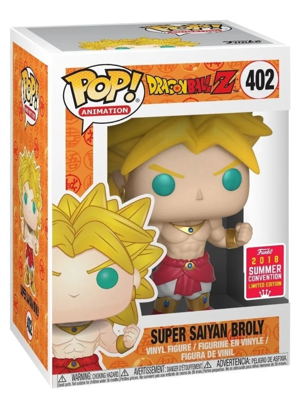 Funko pop Dragon Ball Super saiyan Broly #402 Summer Convention 2018