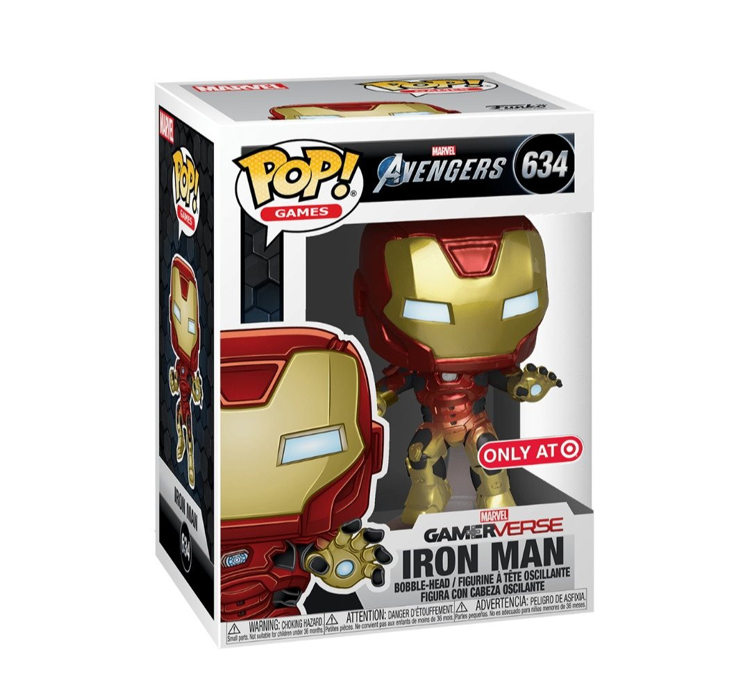 Funko pop Games Marvel Iron Man #634 Exclusivo Target