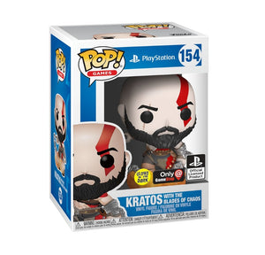 Funko pop Games God of war Kratos GITD #154 Exclusivo GS