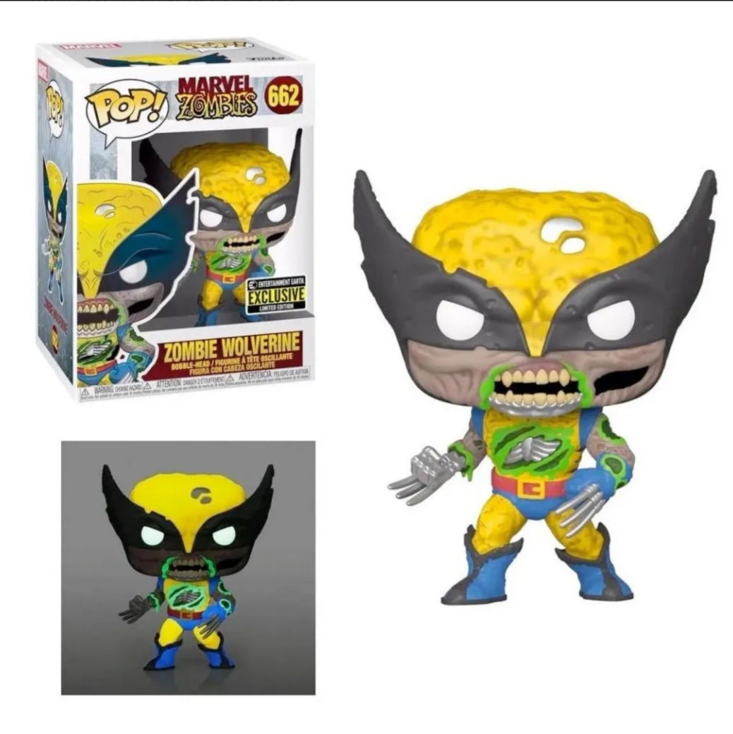 Funko pop Marvel Zombie Wolverine #662 Gitd Exclusivo EE