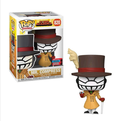 Funko pop  Animation My hero Academia  Mr. Compress #820 Exclusivo Fall Convention 2020