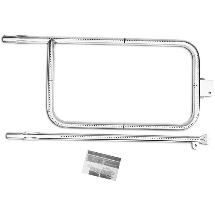 "Weber 65032 Grill Burner Tube 10 3/8 x 23 3/4"" + 22 1/16"" Stainless Steel Replacement Accessories Parts"