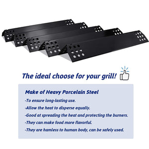 "NEXGRILL 720-0830H Porcelain Steel 14-9/16"" Heat Plates Grill Replacement Parts"