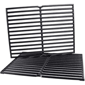 "Weber 7522 Cast Iron 15"" Grill Cooking Grates Replacement with 2 Pack"