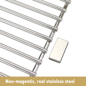 "Char-Broil 17"" Stainless Steel Non-Magnetic Grill Cooking Grates Parts"