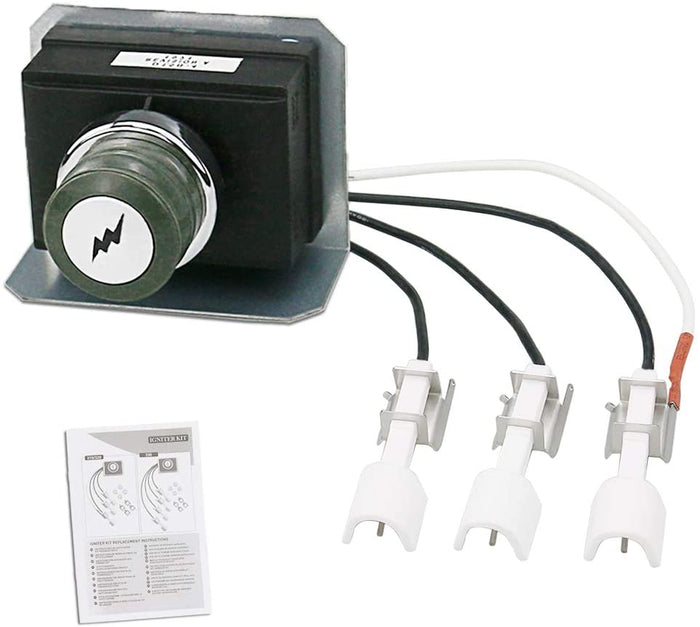 Weber 7628 Igniter Kit for Genesis 300 Series, 310 and 320 Gas Grills, 2011 & Newer (Front Mounted Control Panel) Electrodes Ignitions Kit