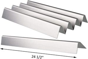 "5 Pk Stainless Steel Weber 65935, 7539, 9938 7540 24.5"" Flavorizer Bars for Weber Genesis 300 E310, E320, S310, S320 (with Side Control Panel)"