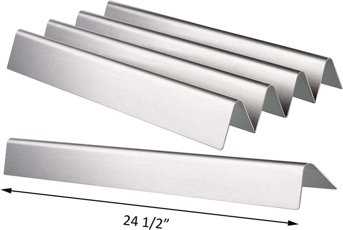 "Weber 65935, 7539, 7540 Flavorizer Bars 24.5 x 2.375 x 2.375"" x 5 Pack Stainless Steel Grill Parts for Weber Genesis"