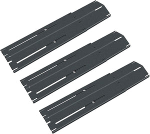 Brinkmann Universal Adjust 11 3/4 to 21'' x 3 3/4'' Porcelain Steel Grill Heat Plates Shield Flavorizer Bars for Jenn Air. Char-Broil, Nexgrill, Uniflam