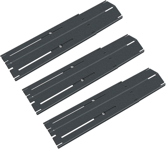 Brinkmann Universal Adjust 11 3/4 to 21'' x 3 3/4'' Porcelain Steel Grill Heat Plates Shield Flavor Bars for Jenn Air. Char-Broil, Nexgrill, Uniflam
