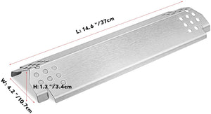 "Home Depot Nexgrill Heat Plates 14.6"" x 4.2"" x 1.3"" X 6 Pack for Stainless Steel Gas Grill"