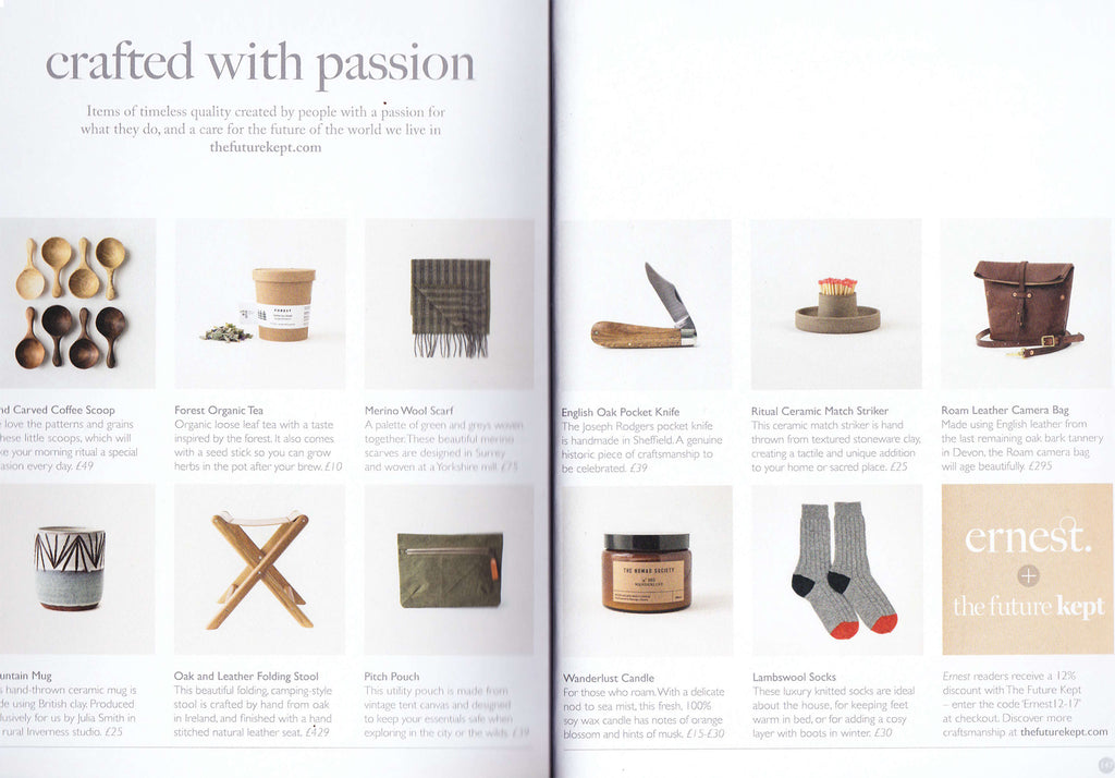 Ernest Journal Magazine x Rose B. Brown Autumn Winter 2017 Collection Wool SocksMade in UK