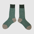 Colour Block Socks | Emerald Marl