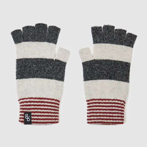 Striped Fingerless Gloves | Cliff + Russet