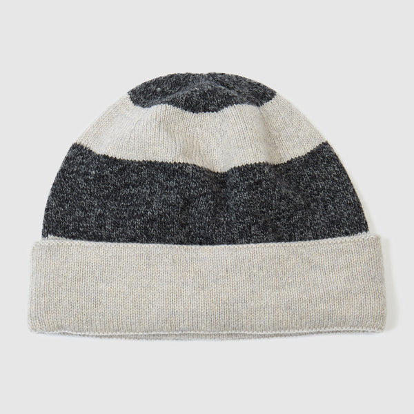 Striped Beanie Hat | Oyster + Cliff Marl
