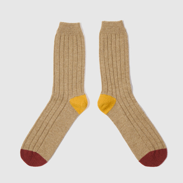 Colour Block Socks | Fawn
