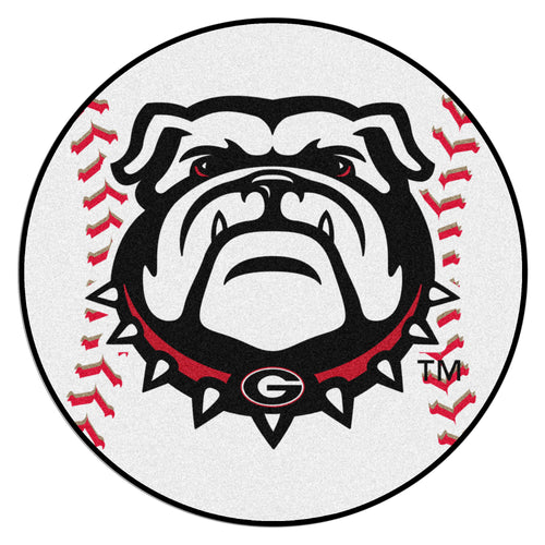 University of Georgia Bulldogs Baseball Rug
