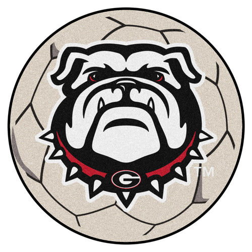 University of Georgia Bulldogs Soccer Ball Area Rug
