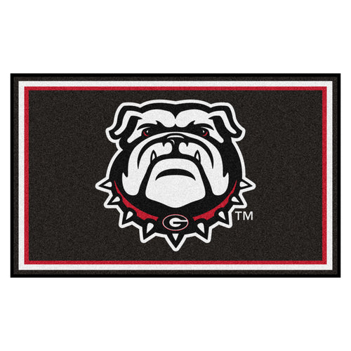 University of Georgia Plush Area Rug