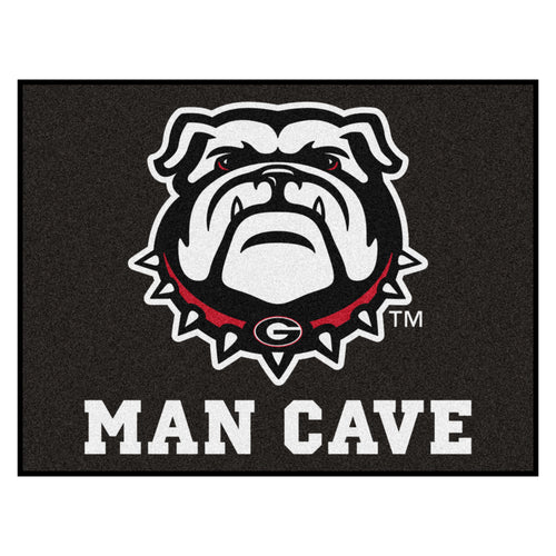 University of Georgia Bulldogs Man Cave Area Rug